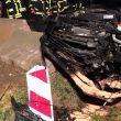 Gemeldeter PKW Brand nach Verkehrsunfall